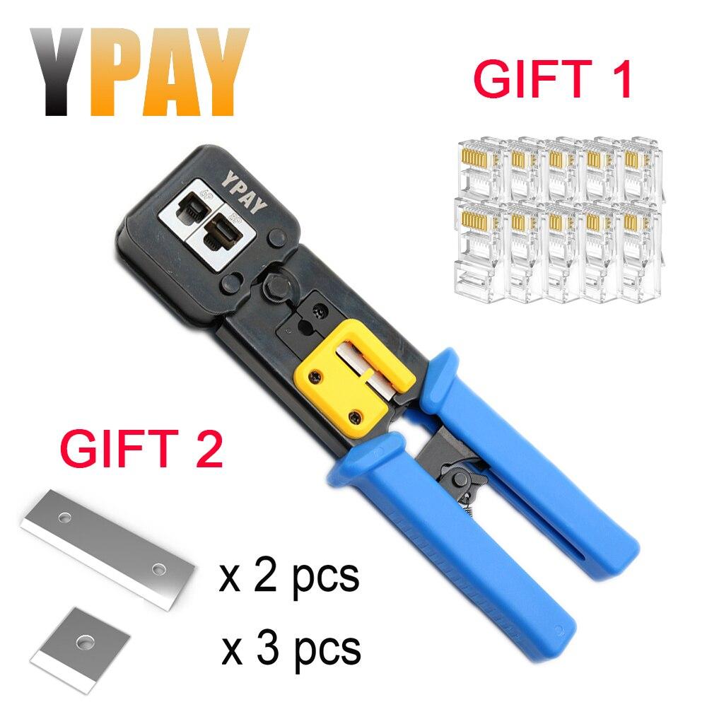 YPAY EZ rj45 щипцы для кабеля rg45 сетевые инструменты плоскогубцы rj12 cat5 cat6 8p 6p rj 45 инструмент для зачистки зажим щипцы зажим многофункциональный