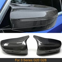 carbon fiber car rear view mirror covers caps for bmw 3 series g20 g28 2019 2020 side mirror caps covers replacement only lhd