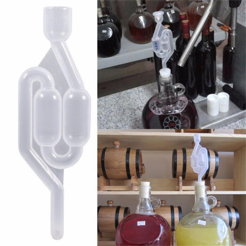 Válvula de retenção de água selada da fermentação do vinho da fermentação do ar da exaustão do fechamento de ar caseiro durável do respiradouro do vinho