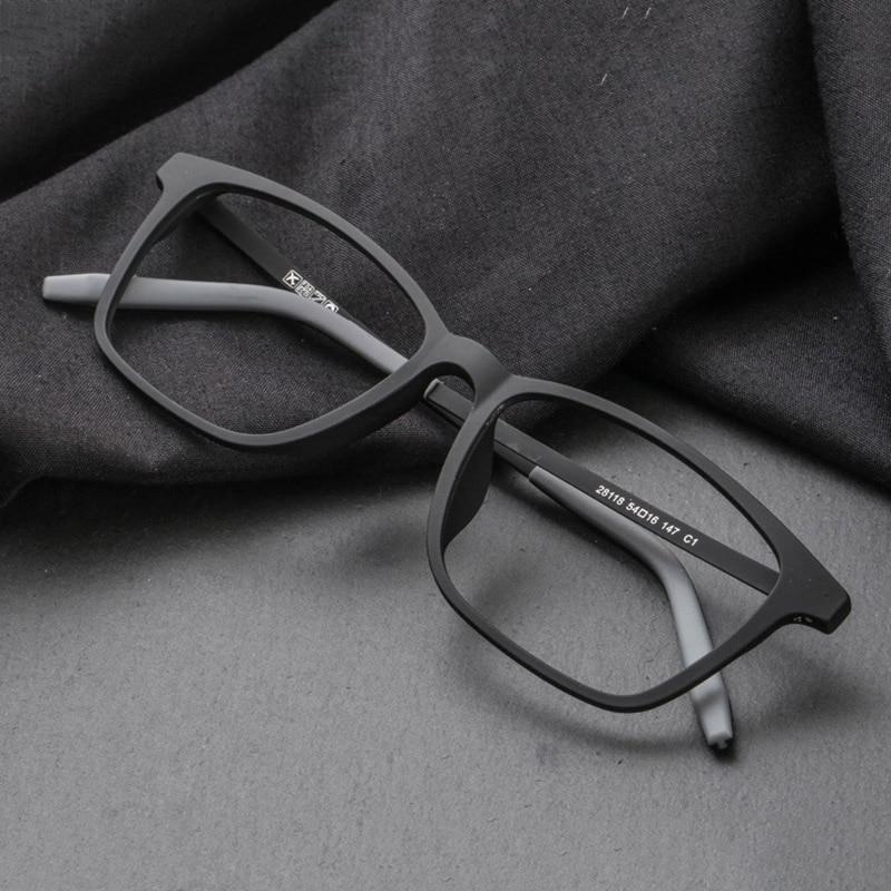 CUBOJUE TR90 + gafas de tianium hombres mujeres negro 135mm 147mm 154mm gafas de gran tamaño para prescripción masculina Anti azul progresiva
