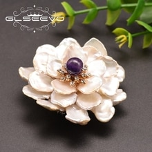 GLSEEVO naturel eau douce Baroque perle multi-couches pétales fleur broches pour fiançailles filles cadeaux femmes bijoux GO0100