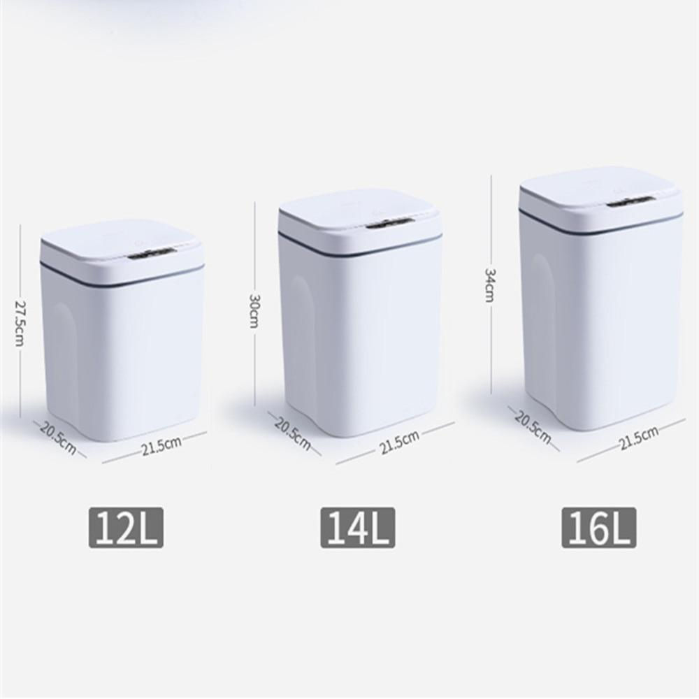 USB Intelligent Trash Can Automatic Sensor Dustbin Smart Sensor Electric Waste Bin Home Rubbish Can for Kitchen Bathroom Garbage enlarge