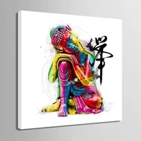 zen buddha statue posters home decoration canvas painting hd pictures studio living room quadro wall art painting