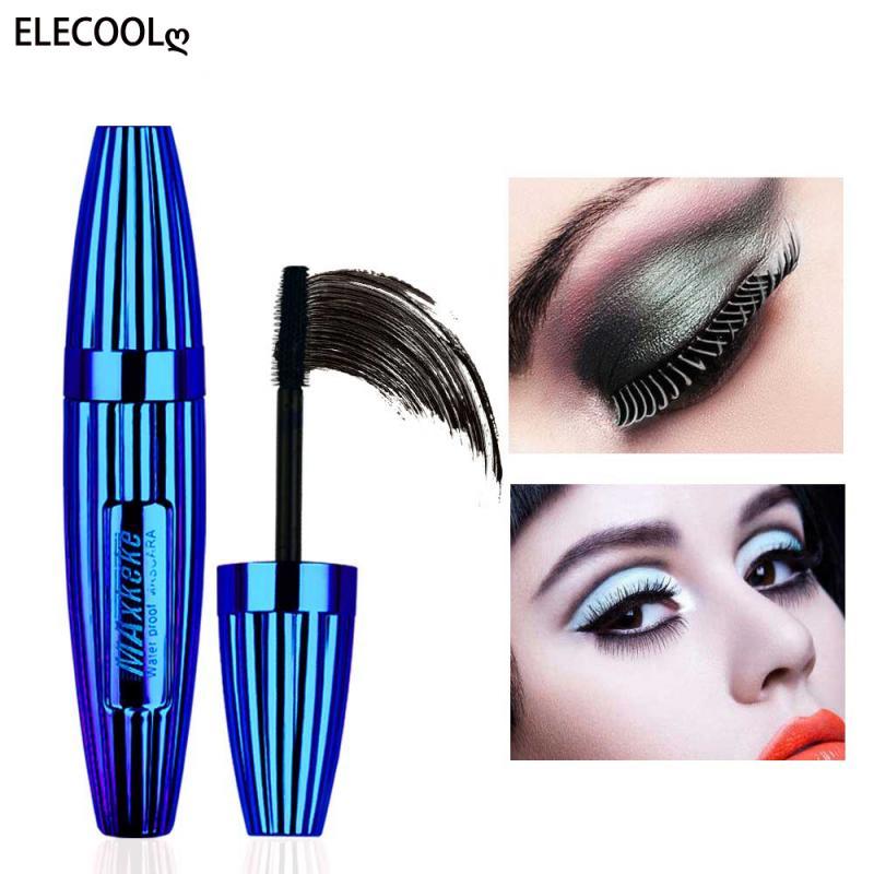ELECOOL 4d Silk Fiber Lash Mascara Long Curling Mascara Makeup Eyelash Black Waterproof Fiber Mascar