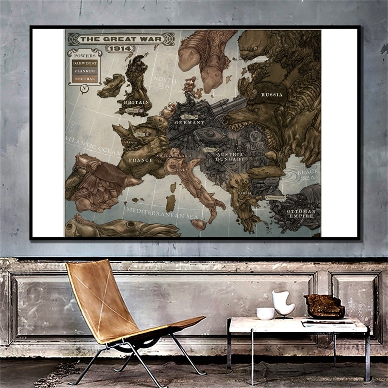 magic world map wallpaper wall stickers for kids rooms bedroom sticker painting poster home decoration accessories 59x42cm Vintage Retro Europe World Map Non-woven Poster Wall Chart Home Decoration Wall Sticker World Map Painting Travel Gift