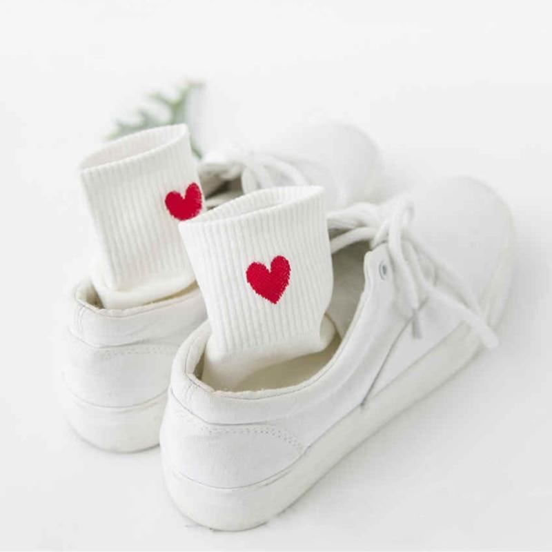 AliExpress - Women Sock Embroidery Love Heart Sox Korean Harajuku Fashion Funny Calcetines Mujer AMozae Cotton Student Classic Sokken Femmel