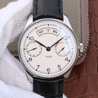 mens watch automatic mechanical watch oemg leather strap iw503501 white dial 44mm top quality 11 aaa replica watch for men