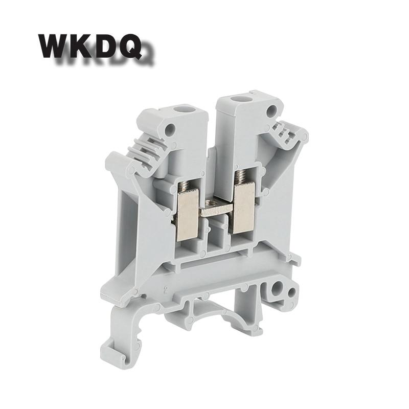 10 pces UK-5N 2 condutores uk5n universal parafuso conexão din trilho bloco terminal conector uk5 parafuso blocos terminais
