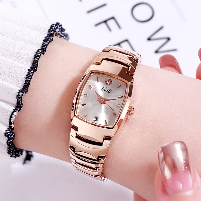 Unique Women Rose Gold Watch Small Classic Simple Minimalism Casual Lady Watch Fashion Casual Dress Watch for Female enlarge