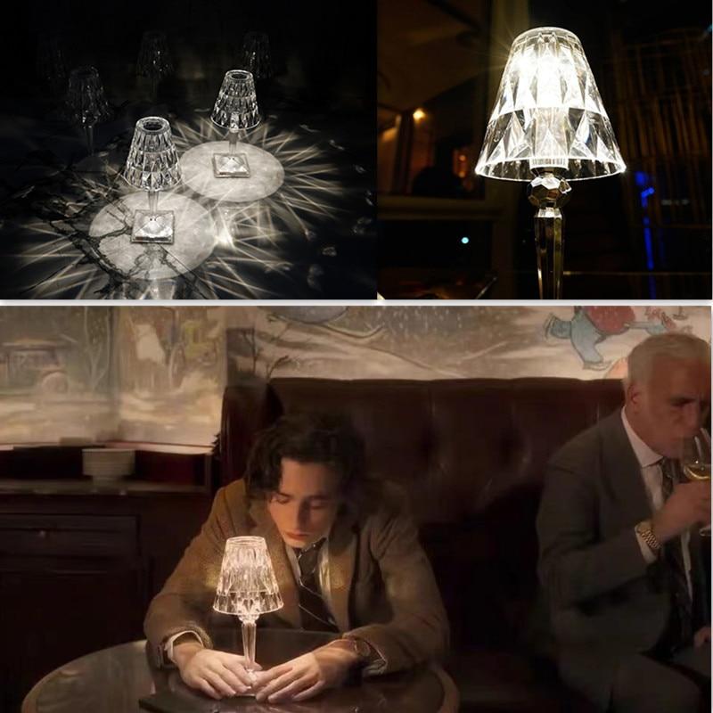 Acryl Table Lamp for Bedroom Living Room Desk Lamp Study Crystal Art Deco Beside Ghost Night Lights Lighting  bedroom decor enlarge
