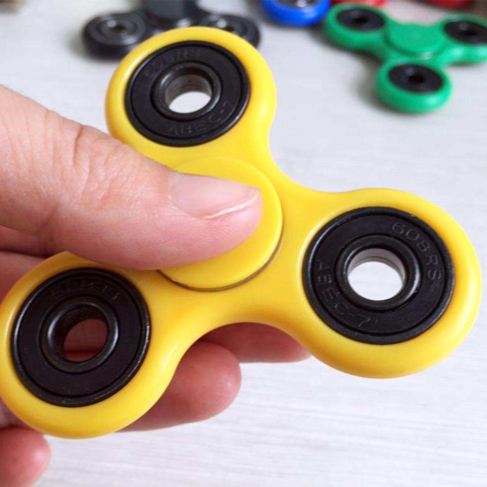 RCtown EDC Fidget Spinner Spielzeug, Kunststoff Tri Hände Spinner Stress Minderer, hohe Geschwindigkeit Lager ADHS Fokus Angst Relief Spielzeug