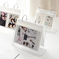 Acrylic Desktop Vertical Album Transparent Desktop Page Turning Standing Sign Stand Decoration