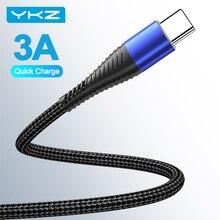 Кабель зарядный YKZ Micro USB Type C, 3 А, Нейлоновый, для iPhone 12 Pro Max Кабели для мобильных телефонов      АлиЭкспресс