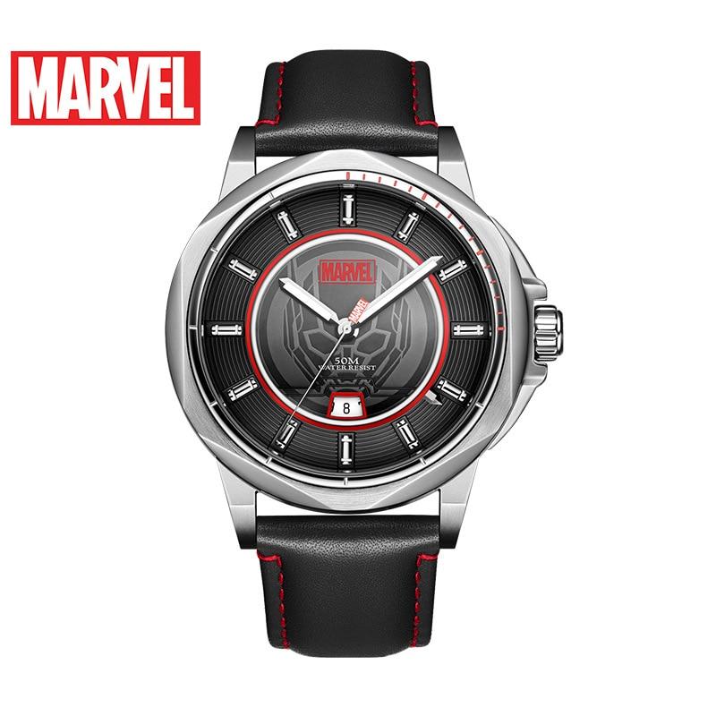 Disney Men's Quartz New Belt Casual Trend Marvel Watch Personality Waterproof Calendar Watch
