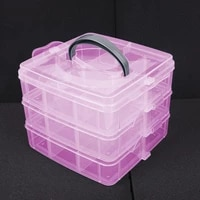 1storage box clear plastic jewelry bead storage box 3 layers container organizer case craft 2021 high quality