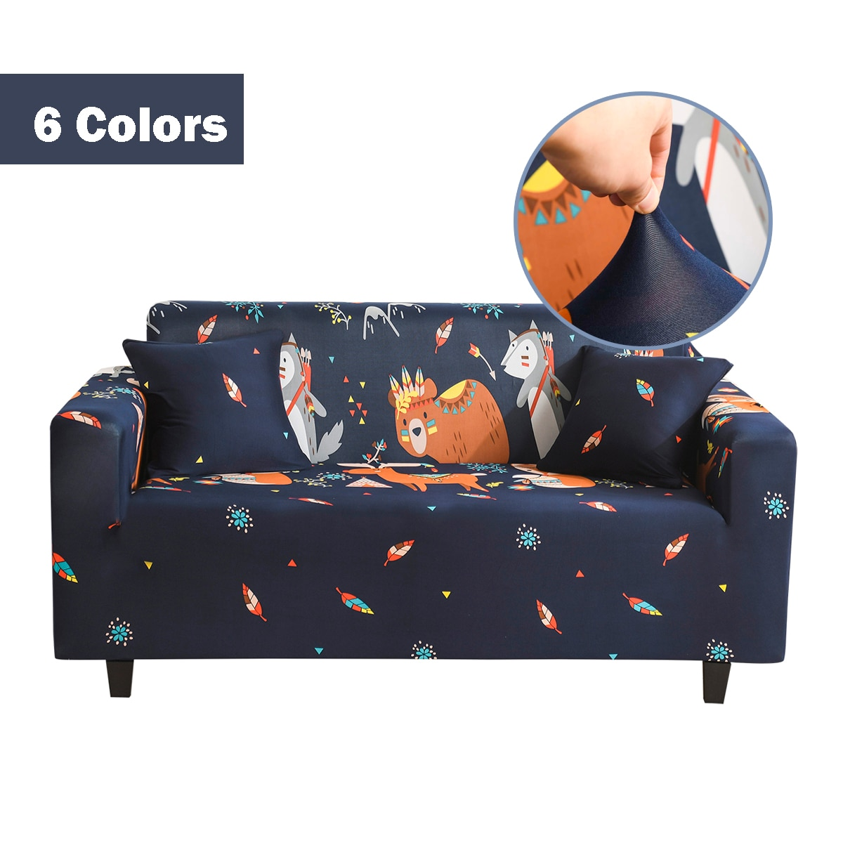 1 2pcs elastic sofa covers for living room l shape sectional slipcovers strench armchair couch covers 1 2 3 4 seater funda cover Cartoon Sofa Covers for Living Room Elastic Couch Covers for Sofas Sectional Slipcover L Shape Sofa Cover Protector 1/2/3/4 Seat