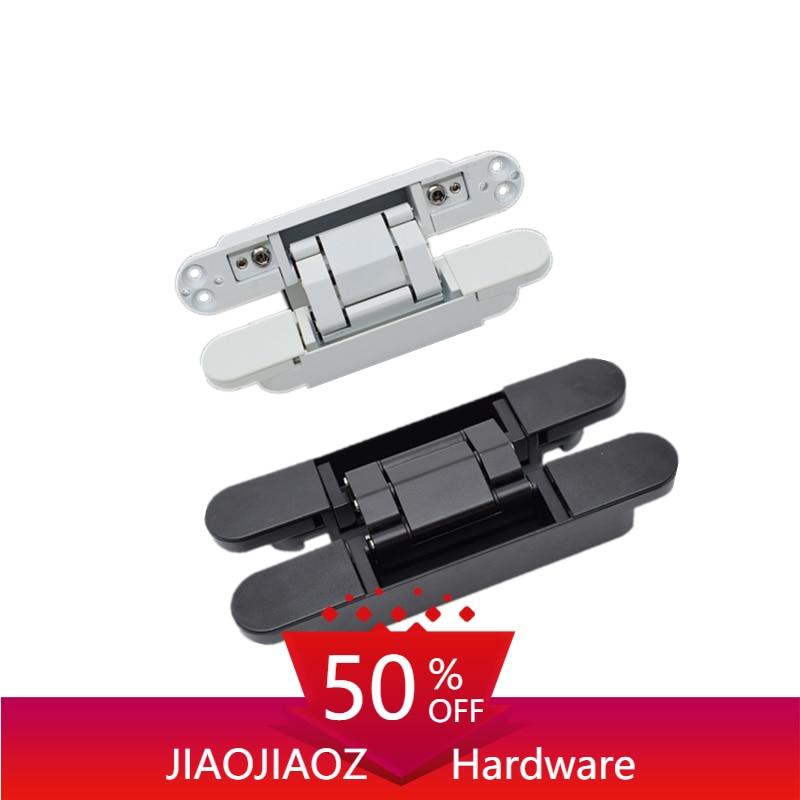 JIAOJIAOZ منتجات جديدة 120 كجم الأبواب الخشبية فلوش الثقيلة أخفى المفصلي سبائك الزنك الصليب المفصلي 177*28 مللي متر G80 مفصلات