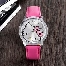 Cute Leather Quartz Watch Children Kids Girls Casual Fashion Bracelet Wrist Watch Clock Relogio Femi