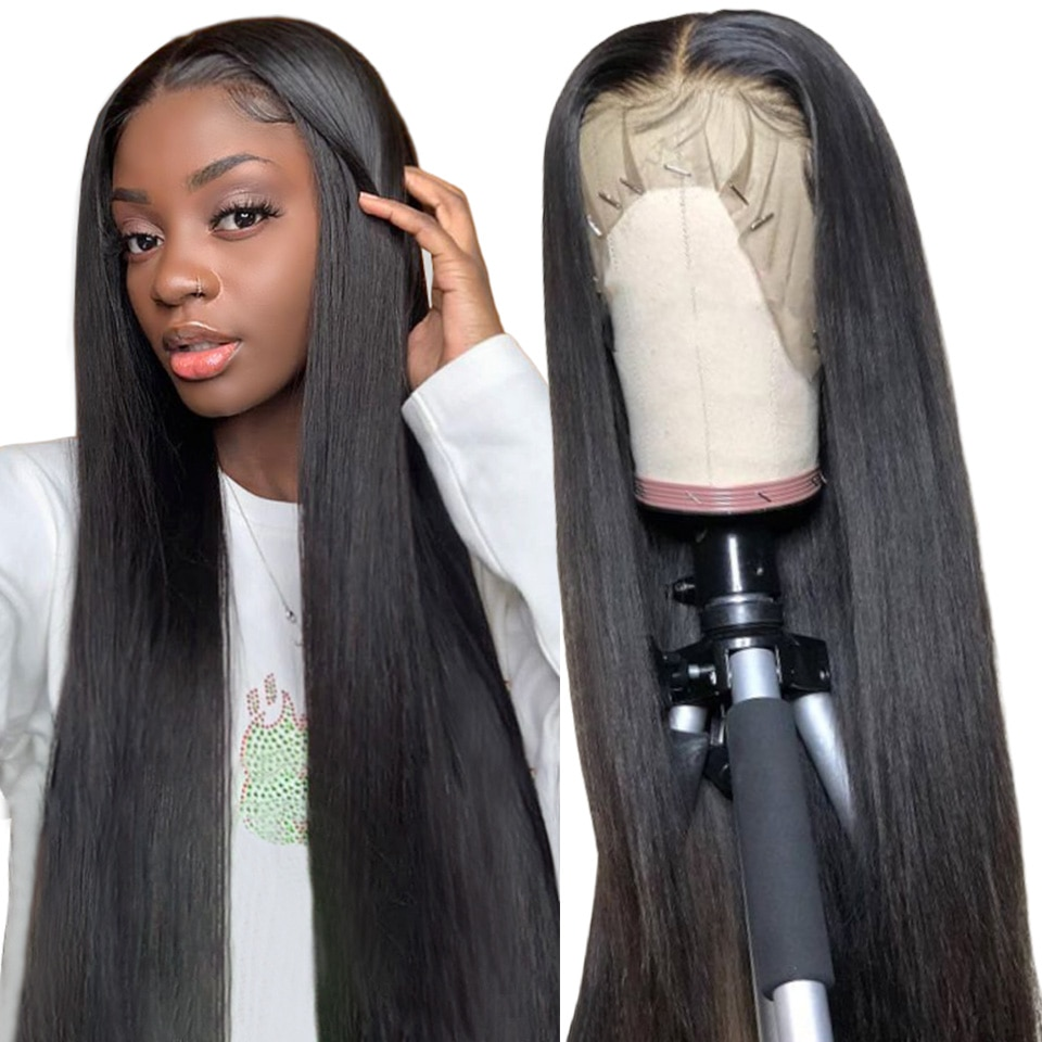 Lace Front Human Hair Wigs Straight Pre Plucked Remy Human Hair Wigs 150% Density Brazilian Hair Lace Front Wigs For Black Women maxglam lace front human hair wigs for black women straight pre plucked with baby hair brazilian remy hair natural color