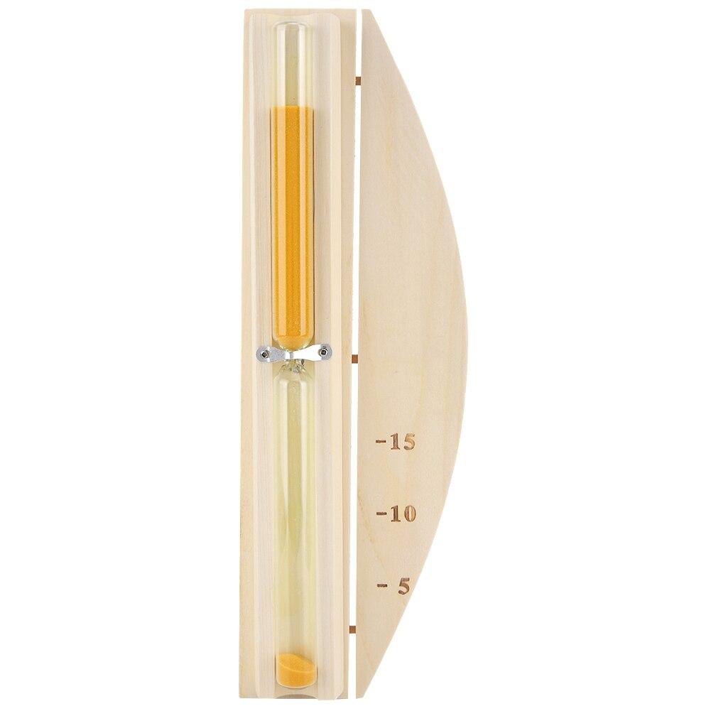 15 minutes de luxe sable minuterie heure-verre horloge pour salle de Sauna décor à la maison minuterie Sauna heure-verre mur rotatif sable minuterie compte à rebours