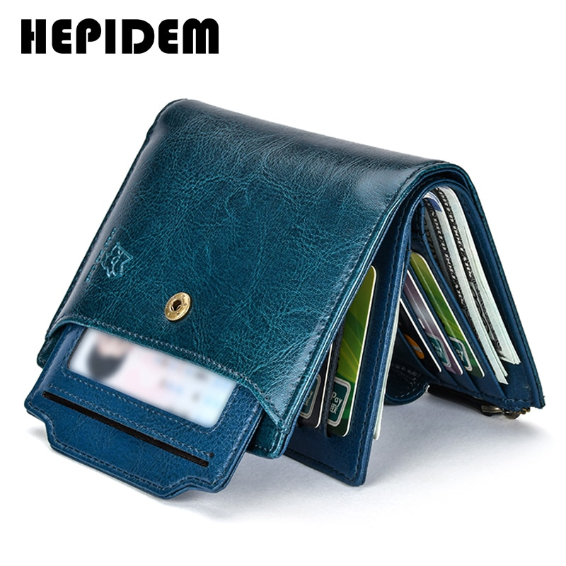 AliExpress - HEPIDEM RFID Genuine Leather Wallets Women 2020 New Luxury Brand Designer High Quality Card Holder Wallet with Zipper 3523