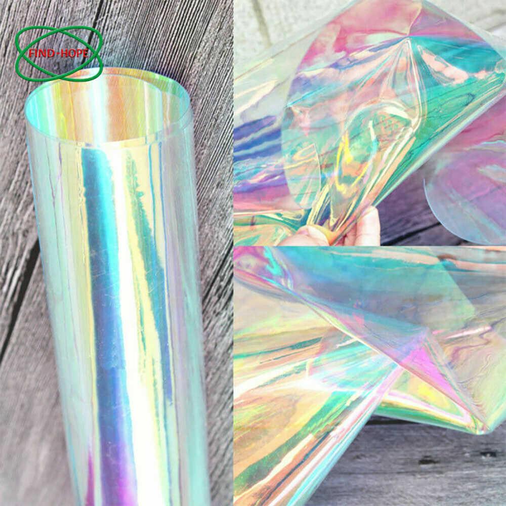 1 Feuille Transparent Transparent Pvc Holographique Magi C Bricolage Artisanat Multicolore Tissu Vinyle Film Aliexpress