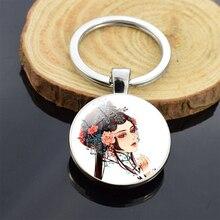 Chińska kultura elementy Peking Opera emalia breloki kryształowe realistyczne postacie breloczek do torby samochodu urok breloczek Travel Craft
