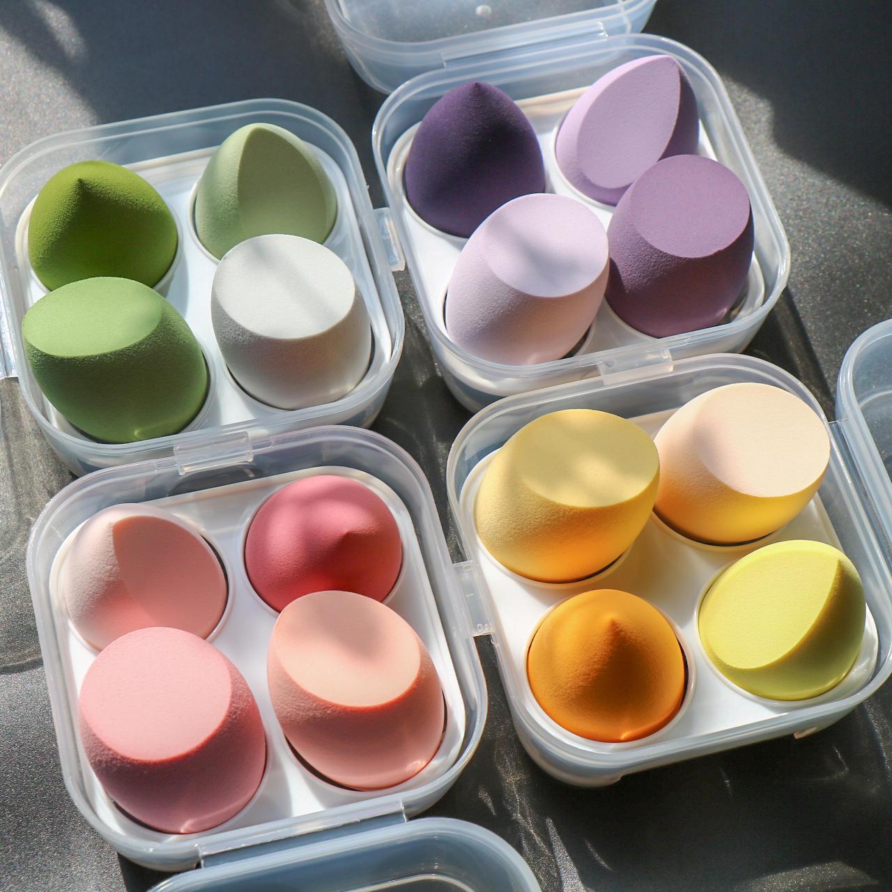 Makeup Blender Cosmetic Puff Makeup Sponge with Storage Box Foundation Powder Sponge Beauty Tool Wom