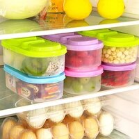 double with cover household kitchen transparent sealed cans plastic covered food grains storage jar snack storage box