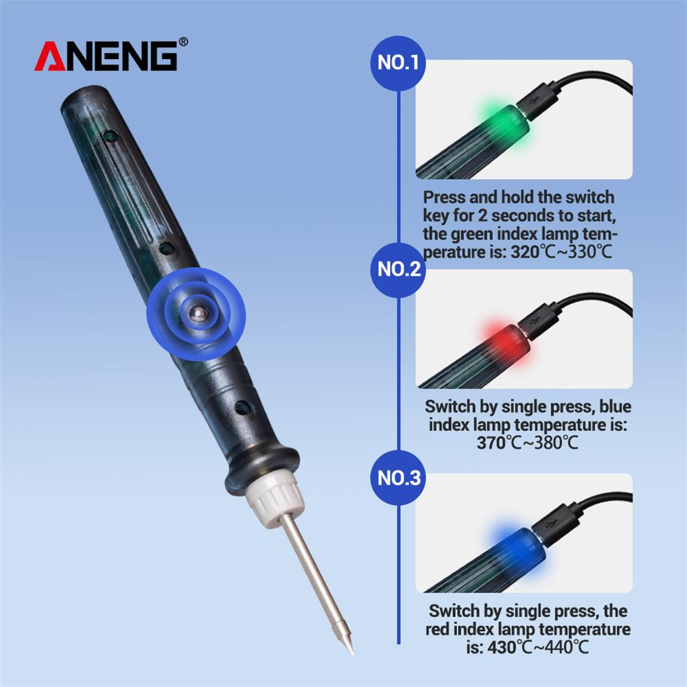 DC 5V 8W Electric Soldering Iron Temperature Adjustable Welding Solder Rework Station Heat Pencil Repair Tools New Hot