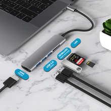 USB 3,1 Type-C концентратор HDMI адаптер 4 к Thunderbolt 3 USB C концентратор с 3,0 TF Card Reader слот C PD для MacBook Pro/Air/Huawei Mate