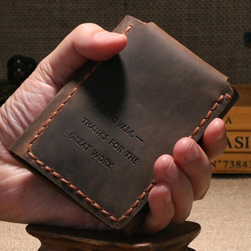 The Secret Life Of Walter Mitty Vintage Leather Men Wallet Genuine leather Wallet Men Purse Handmade male Wallet Money holder