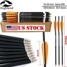 16/20 Inch High Quality Archery Arrows Carbon Arrow 400 For Crossbow Bow and Arrow Sport