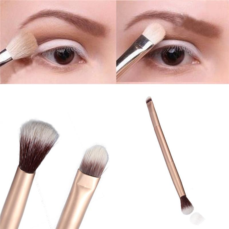 Professional Eye Makeup Brush Double Ended Metal Handle Premium Tapered Concealer Highlighter Eyesha