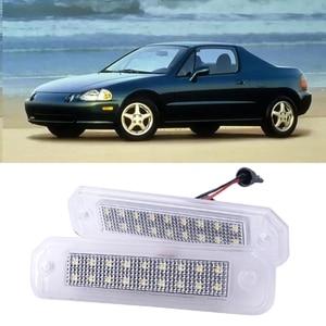 Car LED Number License Plate Lights Lamp for Honda Civic Del Sol Trunk 1993-1997