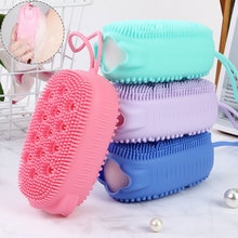 1Pcs Shower Brush Baby Shower Brush Fast Foaming Silicone Scrubbing Artifact Full Body Massage Spa Brush Bathroom Accessory
