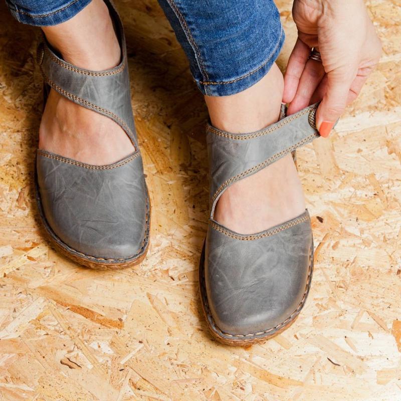 Sandalias de mujer de moda de verano, Sandalias planas Retro, zapatos de señora, zapatos femeninos, zapatos planos suaves casuales, calzado