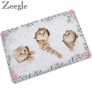 Zeegle Rubber Floor Mat Doormat Non-slip Outdoor Carpet Shower Mat Kitchen Rug Waterproof Indoor Carpet Hallway Rug Foot Mat
