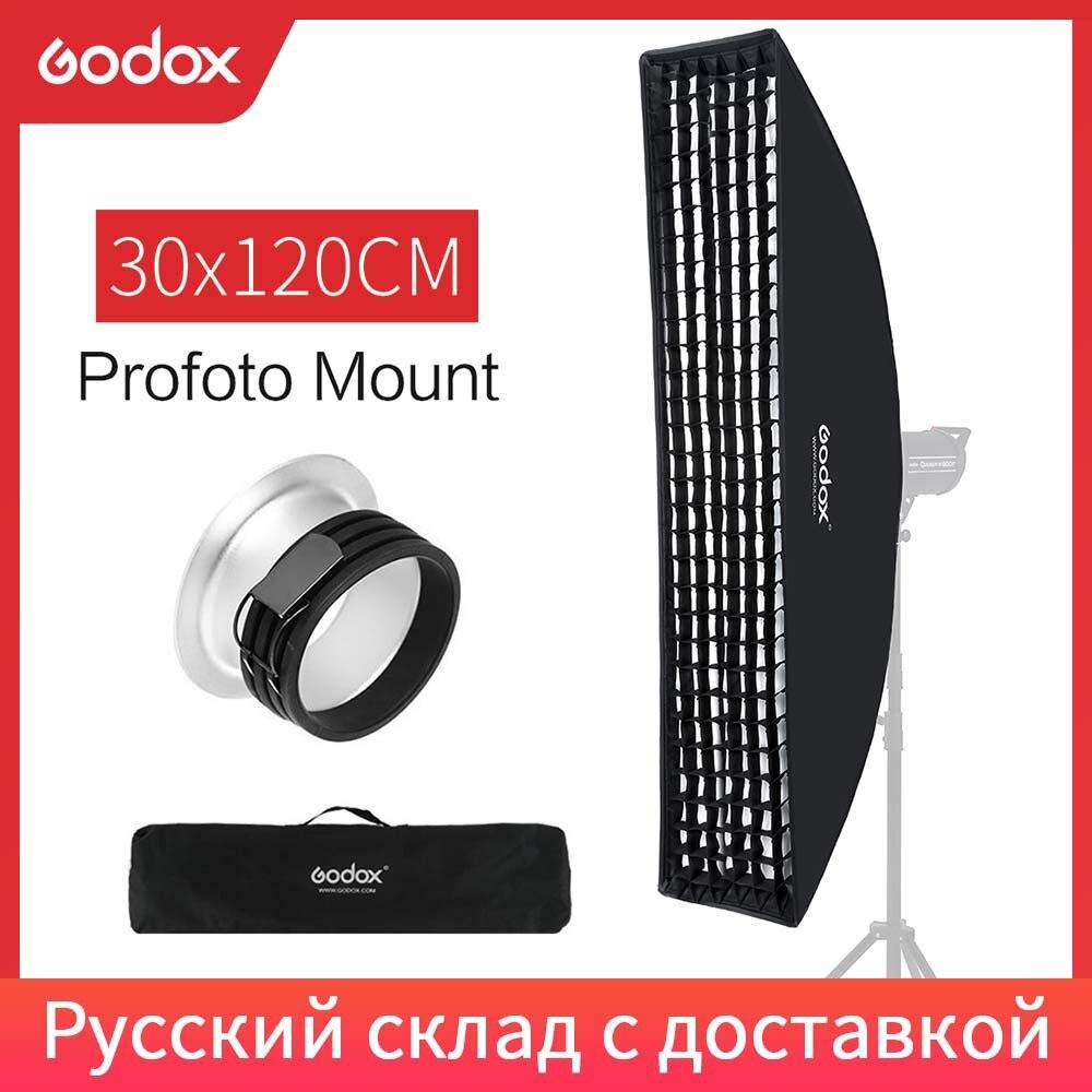 "Godox 30x120cm 12 ""x 47"" nid dabeille grille rectangulaire Profoto montage bande Softbox Studio stroboscope Softbox diffuseur"