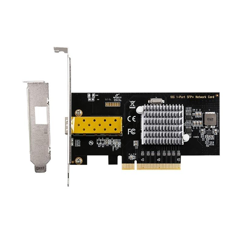 Puerto único, tarjeta de red PCI-E 10 Gigabit, puertos RJ45, tarjeta de interfaz Lan con teléfono 82599 10/100/1000/10000Mbps