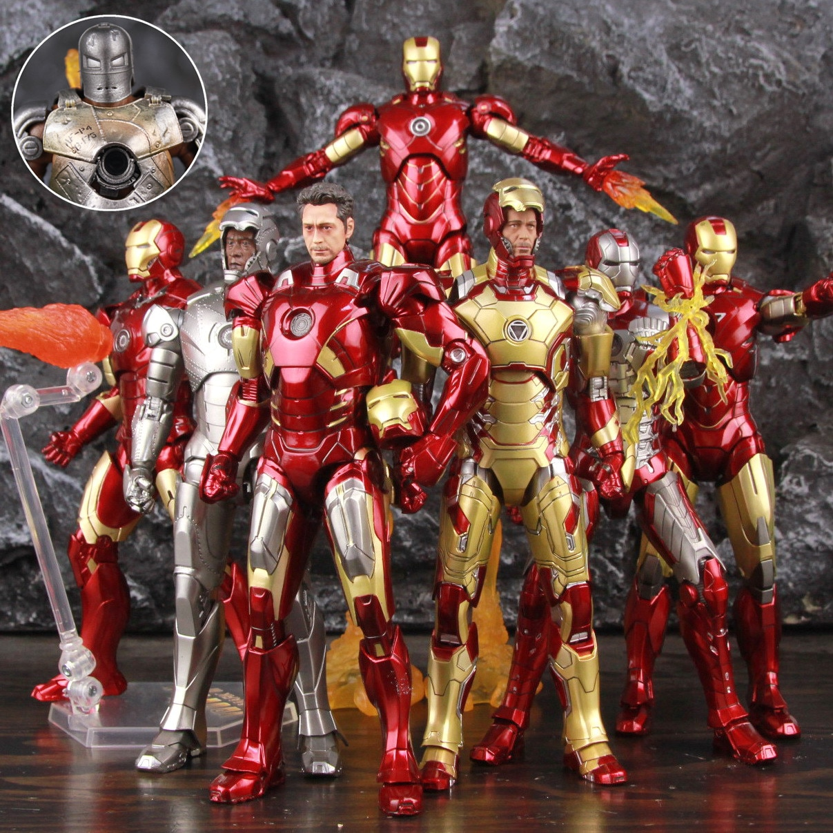 Marvel Iron Man MK1 MK2 MK3 MK4 MK5 MK6 MK7 MK42 7