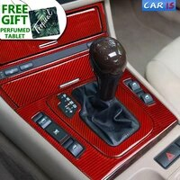 carbon fiber interior car stickers central control cd panel gear cover trim lamp eyebrows decals for bmw e46 1998 2004 3 series