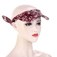 2021 sun hats for women ladies visor headwrap hat beach hats summer autumn print outdoor turban cap anti ultraviolet travel cap
