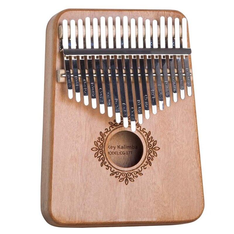 17 chave kalimba polegar piano mogno mbira de madeira instrumentos musicais áfrica musicales caliba máquina para o natal