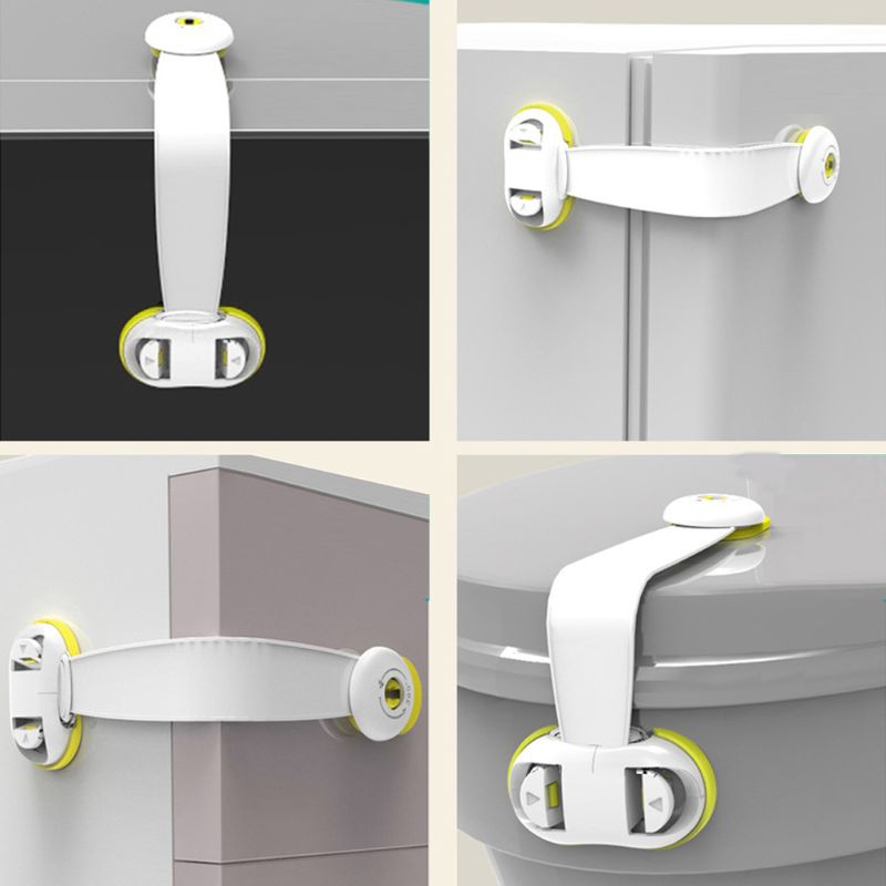6Pcs Child Safety Cabinet Lock Baby Proof Security Protector Drawer Door Cabinet Lock Plastic Protection Kids Safety Door Lock