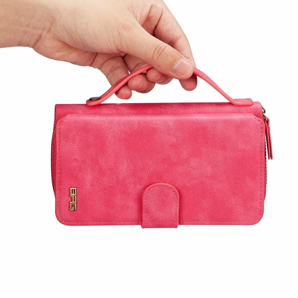 محفظة هاتف خلوي كبيرة للنساء ، مع حامل بطاقات ، حقيبة يد ، جيب لهاتف Samsung Galaxy S10 S20 Note 10 Note 20 Ultra