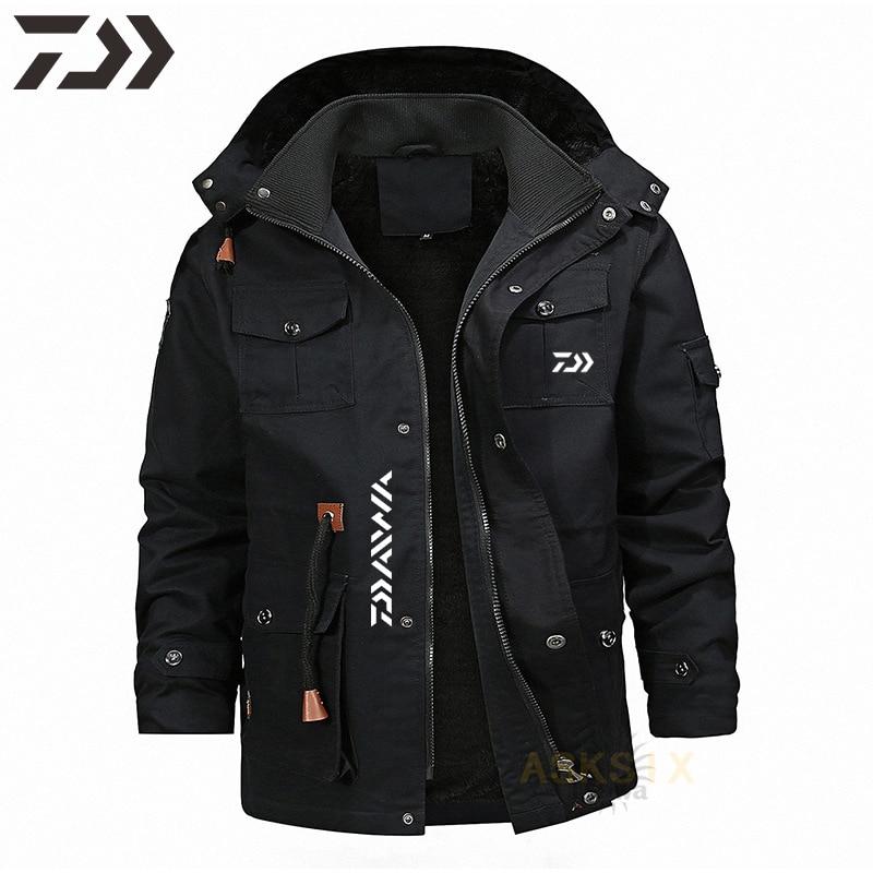 2021 Winter Fishing Clothes Daiwa Waterproof Windproof Fishing Coat Thicken Velvet Men's Fishing Clothing Outdoor Wear Keep Warm enlarge