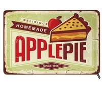 apple pie tin signsdelicious homemade vintage metal tin sign for men womenwall decor for barsrestaurantscafes pubs12x8 inch