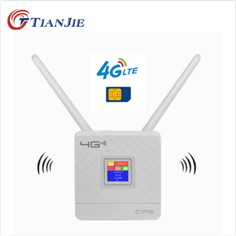 TIANJIE RJ45 WAN/LAN Router 4G WIFI LTE Unlock CPE 300Mbps Wireless SimCard+Antenna+Ethernet Port Hotspot Broadband Modem Dongle