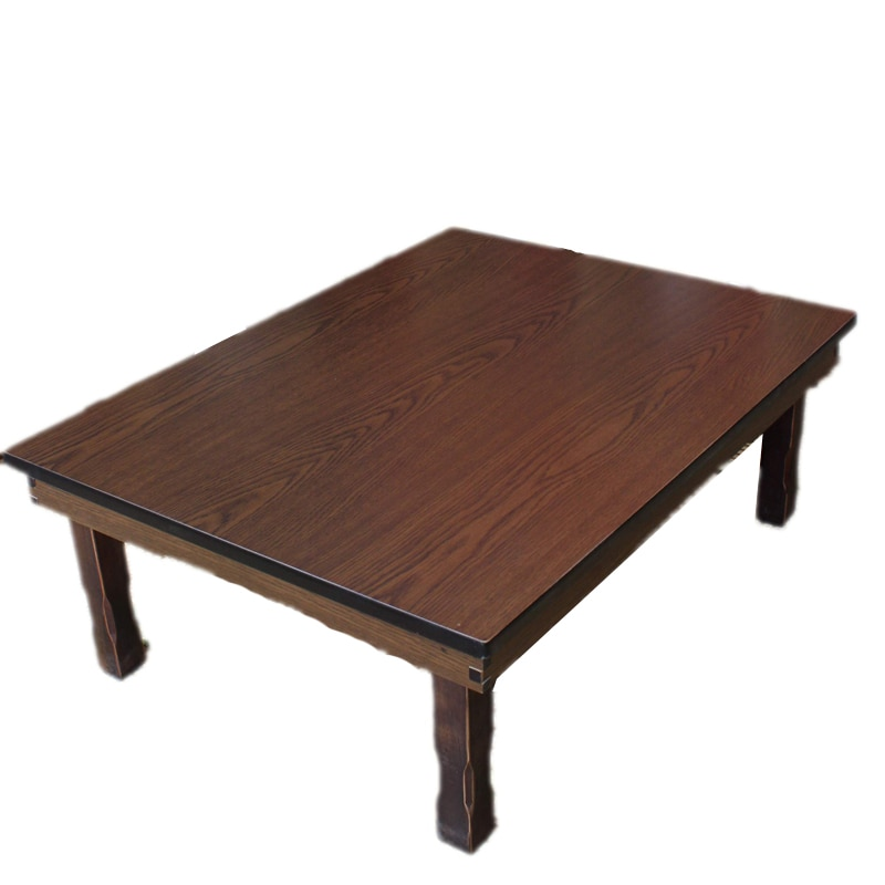 Rectangle 90X75cm Korean Coffee Table Folding Leg  Asian Antique Style Living Room Furniture Floor Traditional Dining Table Wood